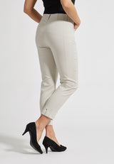 Chloe Slim Cropped Housut - Grey Sand