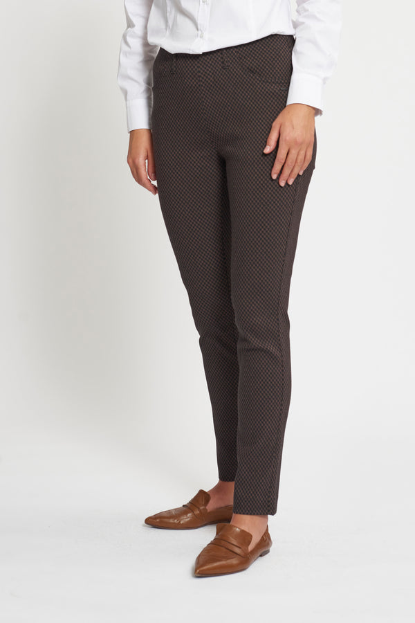 Grace Slim SL - Warm Brown jacquard
