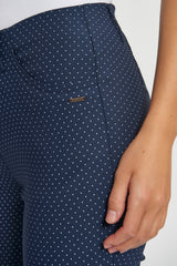 Grace Slim XSL - Navy White Dots