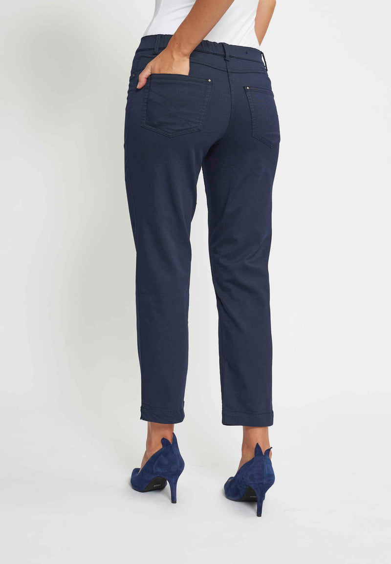 Hannah Regular Housut Cropped - Navy
