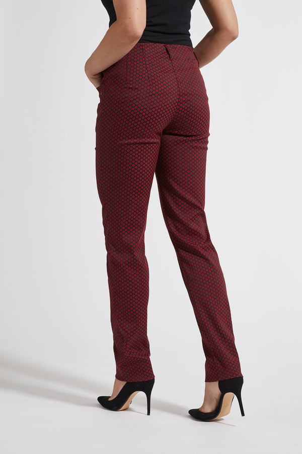 Kelly Regular Housut - Deep Red Print