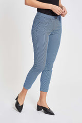 Laura Slim Crop - Blue Striped