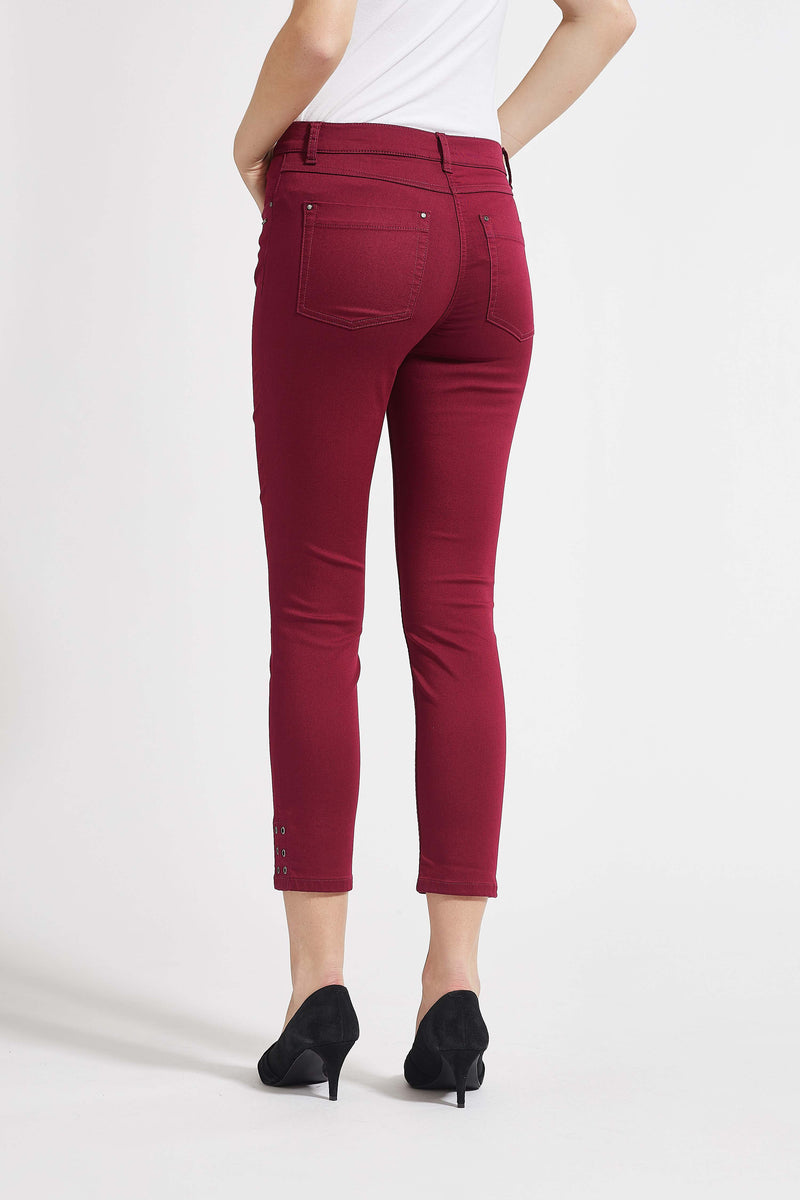 Laura Slim Cropped Housut - Rosewood