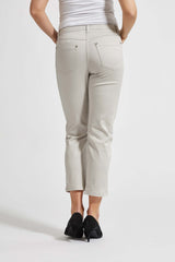 Mia Regular Housut Cropped - Grey Sand