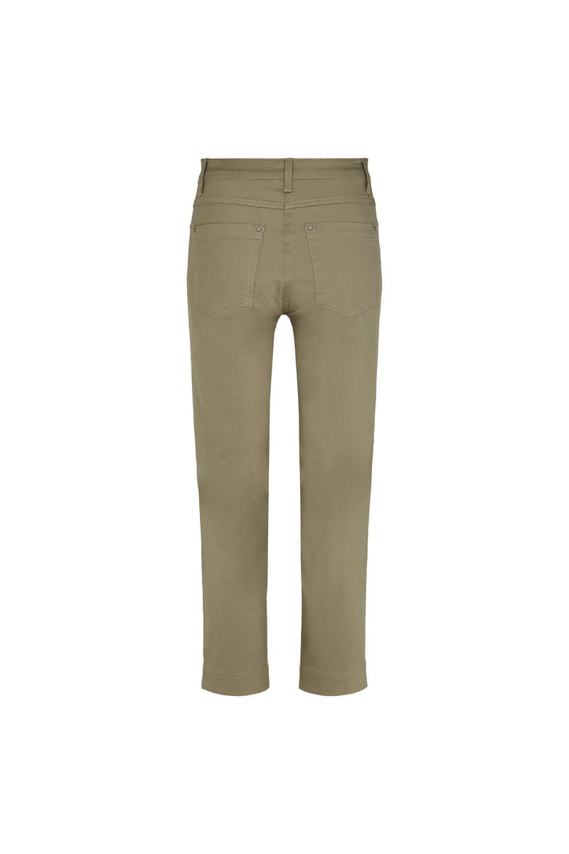 Mia Regular Housut Cropped - Khaki