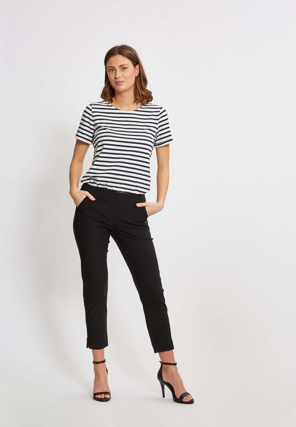 Taylor Regular Cropped Housut - Black