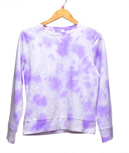 Load image into Gallery viewer, Purple Tie-dye crewneck ANI X YOUNIVERSE
