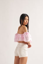 Load image into Gallery viewer, Gingham Ruffle Top