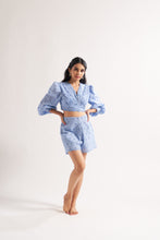 Load image into Gallery viewer, Blue Scallop Bell Co-ord Set