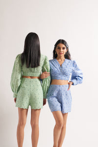Blue Scallop Bell Co-ord Set
