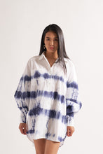 Load image into Gallery viewer, Indigo Tie Dye Shirt Dress