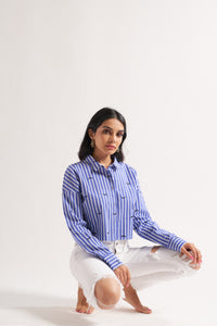 Stripe Shirt With Lashes