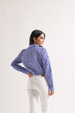 Load image into Gallery viewer, Stripe Shirt With Lashes