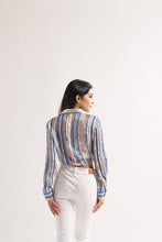 Load image into Gallery viewer, Lurex Stripe Knot Top
