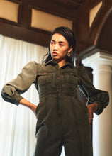 Load image into Gallery viewer, Olive Denim Jumpsuit