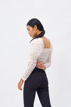 Load image into Gallery viewer, Power Lace top with Cut Out Embroidery