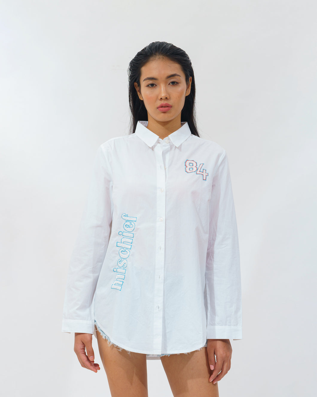 Patched Long Shirt