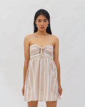 Load image into Gallery viewer, Striped Dress with a front knot