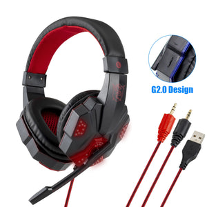 Professional Led Light Gaming Headphones for Computer PS4