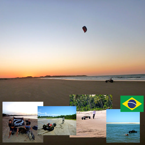 Brazilian Sunset With A Kite Buggy And Images Of Charlie & Harry's Brazil Trip