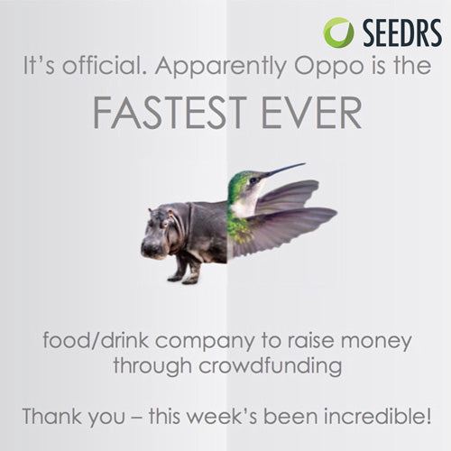 Oppo Is The Fastest Food / Drinks Company To Raise Money Through Crowdfunding Via Seedrs