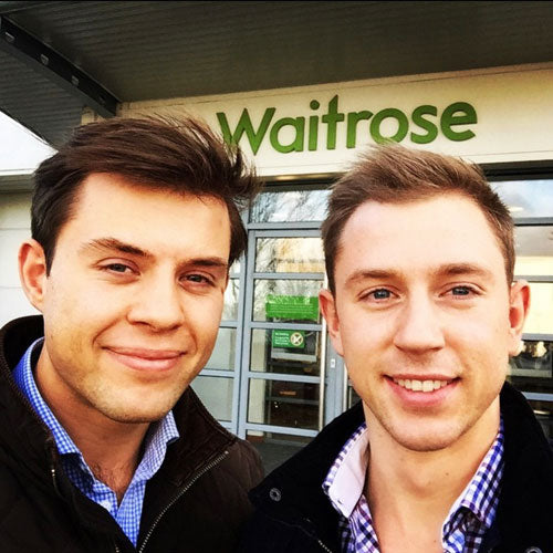 Charlie & Harry In Front Of A Waitrose Store