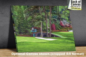Augusta National Amen Corner Golden Bell Hole 12 White Dogwood 11 Golf Club Masters golf course oil painting Art Prints 2112   - PGAgolfArt.com Professional Golf Art & Photos
