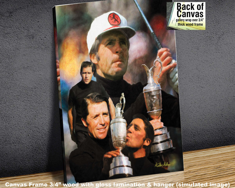 Gary Player Masters and Open Champion PGA Golf Professional Golfer Art Print 2  11x14 - 48x36   - PGAgolfArt.com Professional Golf Art & Photos