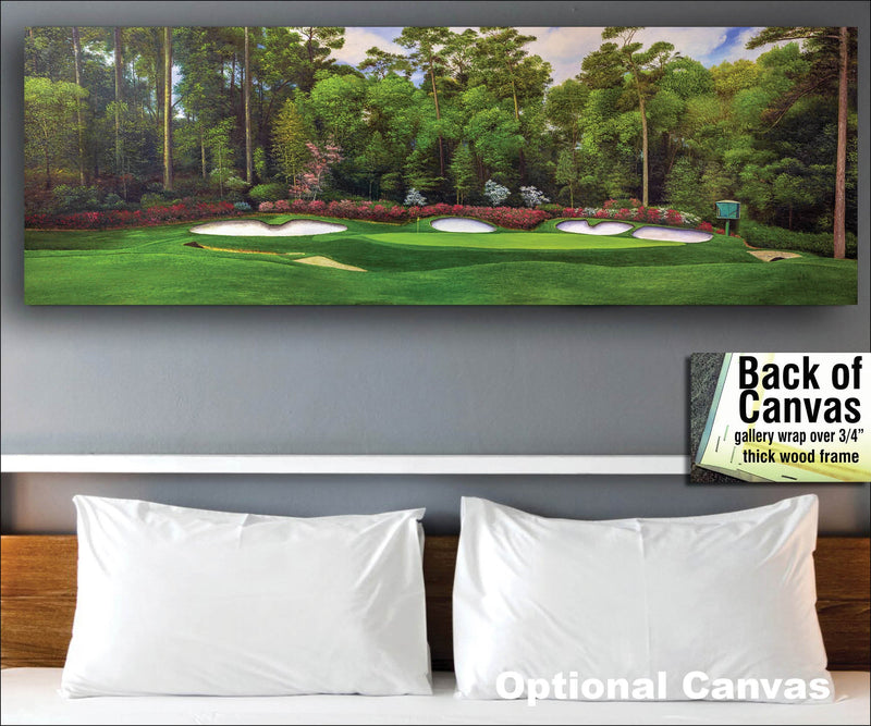 Augusta National Golf Club Masters Amen Corner Hole 13 Magnolia art print golf course oil painting 3000 up to 24x72   - PGAgolfArt.com Professional Golf Art & Photos