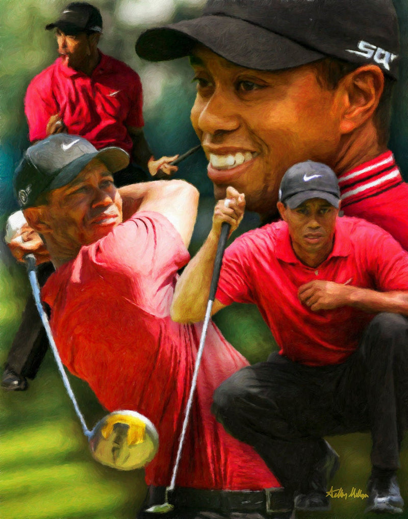 Tiger Woods PGA Professional Pro Golfer Golf 8x10-30x40 Photo Print CHOICES   - PGAgolfArt.com Professional Golf Art & Photos