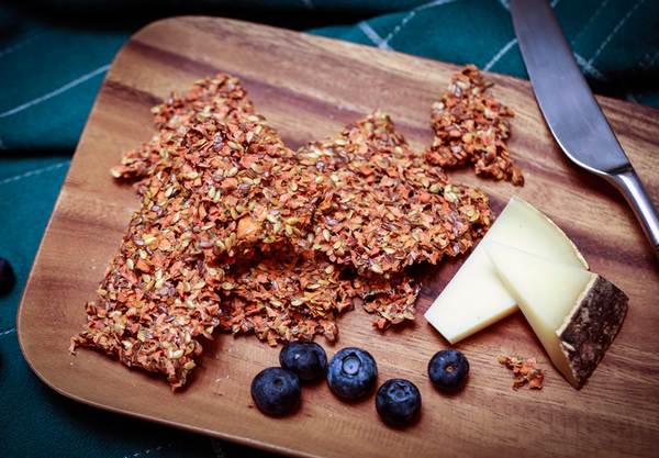 Flaxseed Crackers Organic and Dehydrated