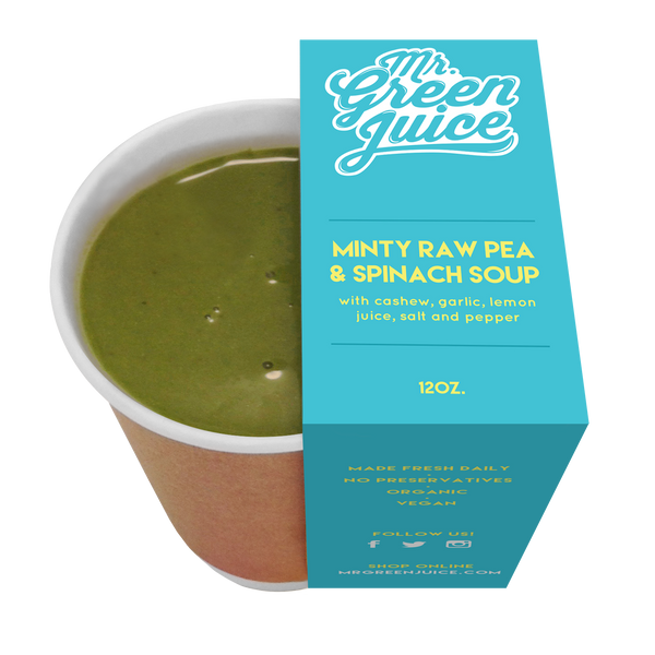 MINTY RAW PEA & SPINACH SOUP