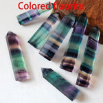 colored flourite obelisk