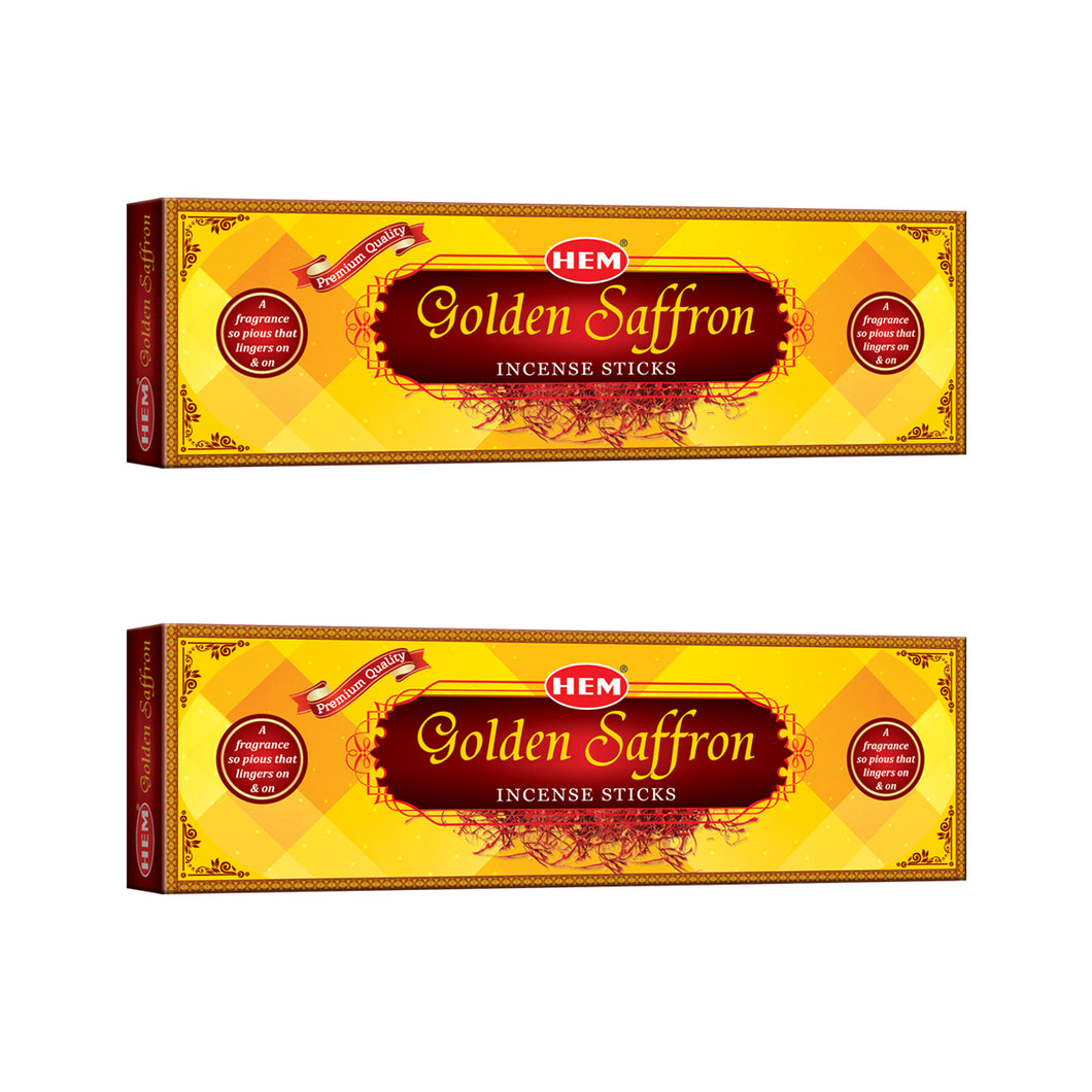 Golden Saffron Incense Sticks - Pack of 2
