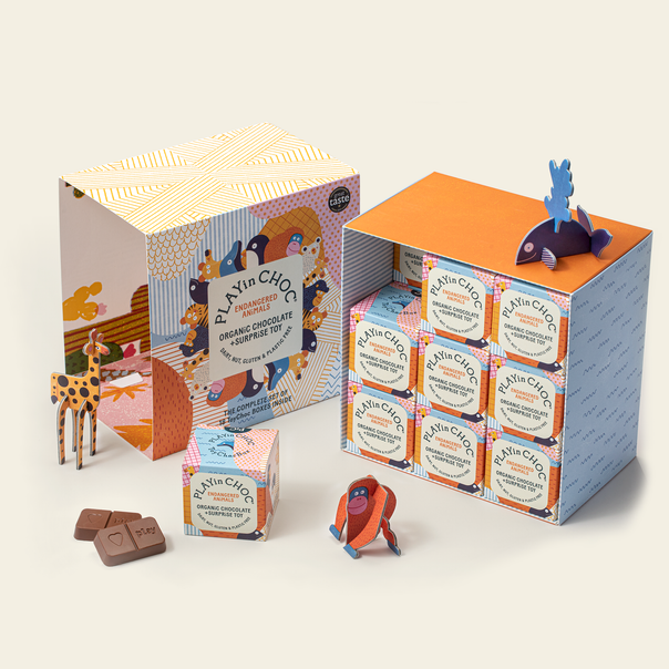 ToyChoc Box<br>18 ENDANGERED ANiMALS GiFT SET