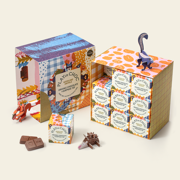 ToyChoc Box<br>18 WOODLAND ANiMALS GiFT SET