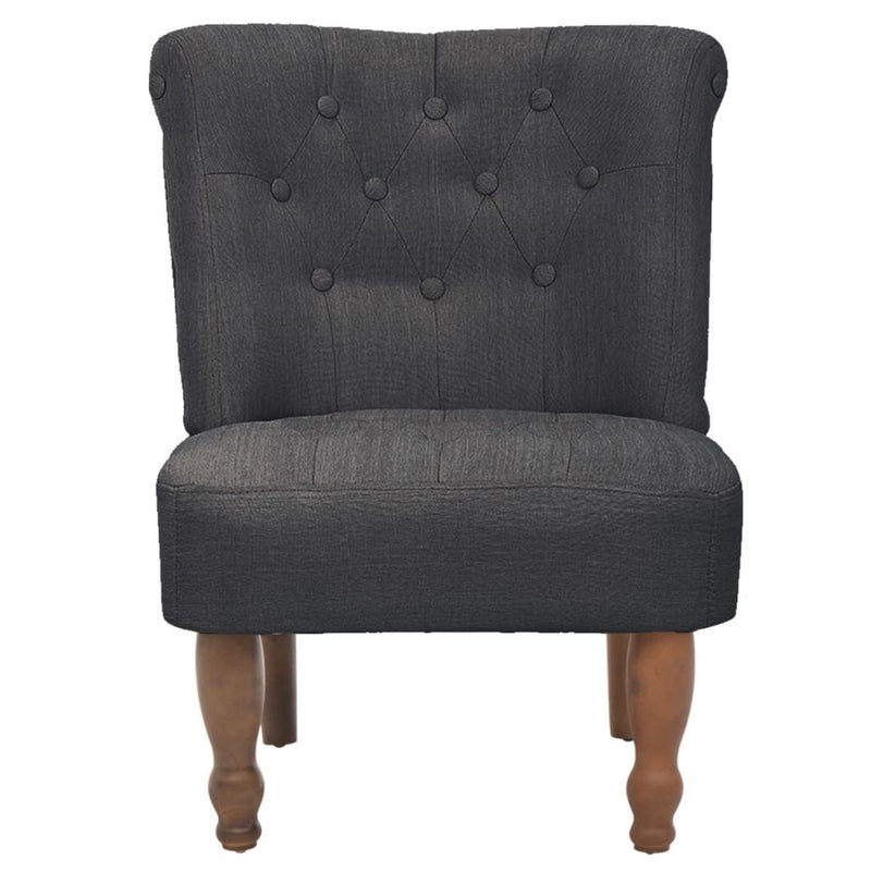 French Chair Grey Fabric