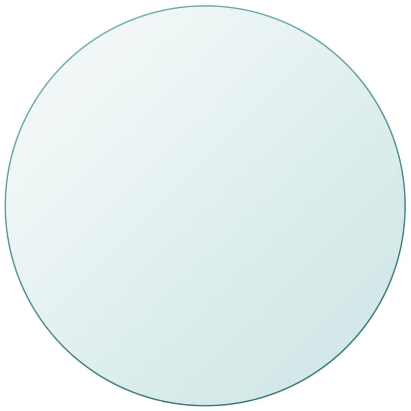Table Top Tempered Glass Round 400 mm
