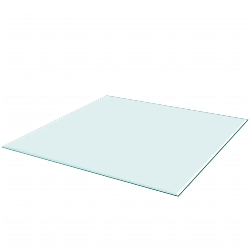 Table Top Tempered Glass Square 700x700 mm