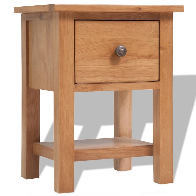 Nightstand 36x30x47 cm Solid Oak Wood