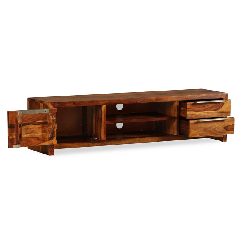 TV Cabinet Solid Sheesham Wood 120x30x30 cm
