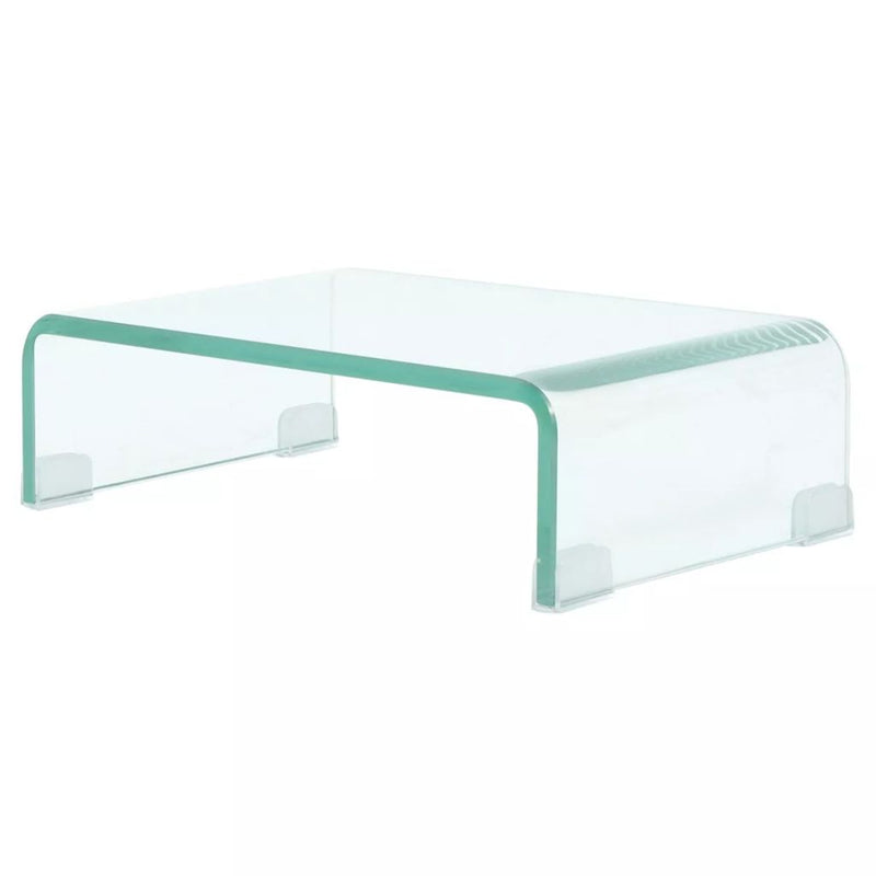 TV Stand/Monitor Riser Glass Clear 40x25x11 cm