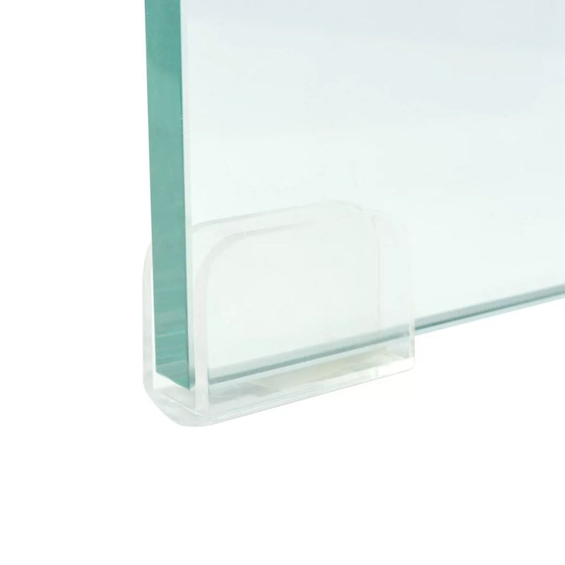 TV Stand/Monitor Riser Glass Clear 60x25x11 cm
