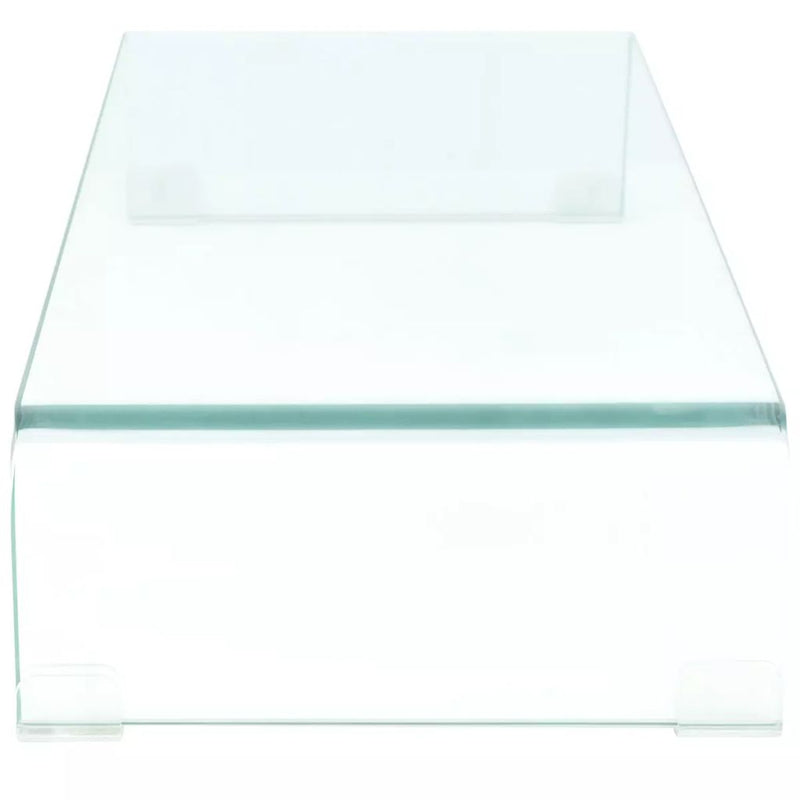 TV Stand/Monitor Riser Glass Clear 70x30x13 cm