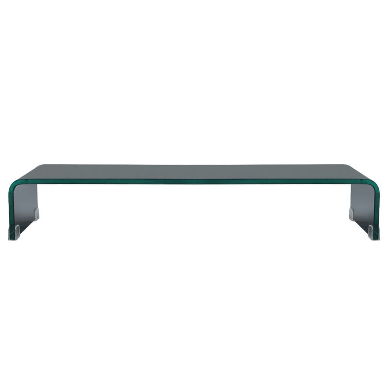 TV Stand/Monitor Riser Glass Black 70x30x13 cm