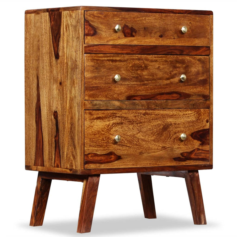 Side Cabinet Solid Sheesham Wood 60x35x76 cm