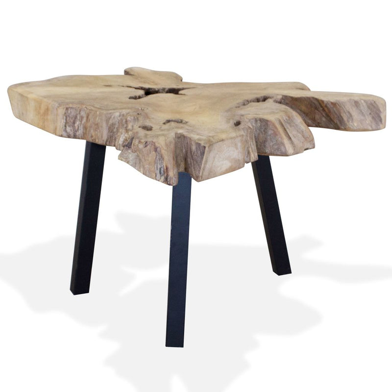 Coffee Table Genuine Teak 80x70x38 cm