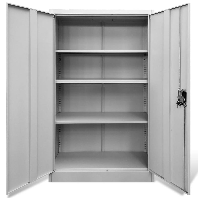 Office Cabinet 90x40x140 cm Steel Grey