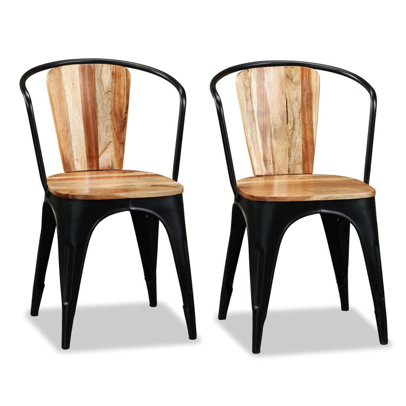 Dining Chairs 2 pcs Solid Acacia Wood