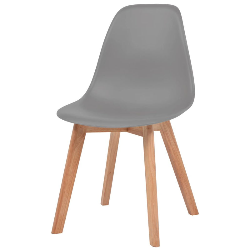 Dining Chairs 4 pcs Grey Plastic